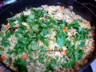 Ground chicken & vegetables pulao