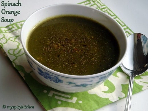 Spinach Orange Soup