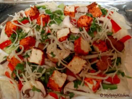 tandoori tofu pizza