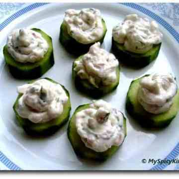 Cream Cheese Stuffed Cucumber