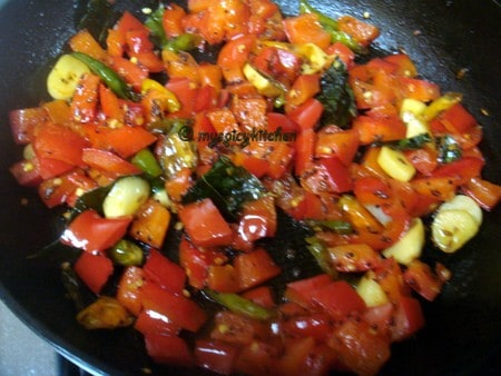 Red bell pepper chutney
