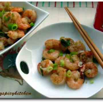 Sauteed pepper shrimp