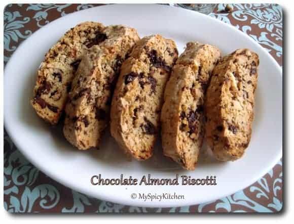 chocolate almond bisoctti, joy of baking chocolate almond bisoctti