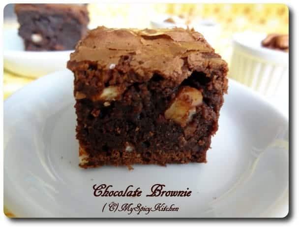 Chocolate Bronies, Chocolate nuts brownies, Chocolate Mela, Joy of Baking, Blogging Marathon