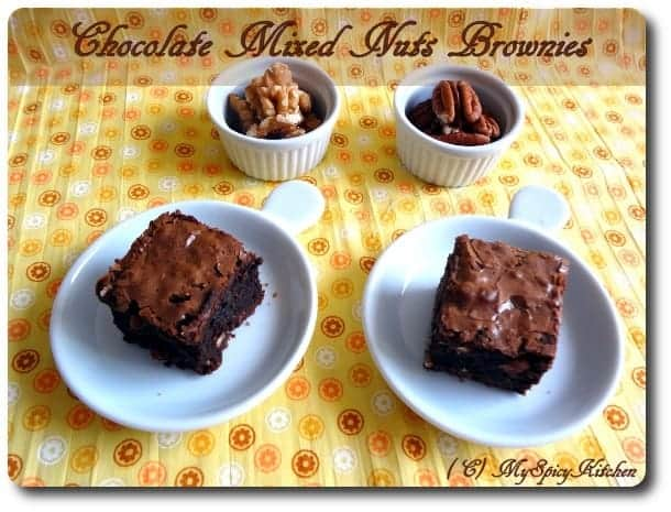 Chocolate Bronies, Chocolate nuts brownies, Chocolate Mela, Joy of Baking, Blogging Marathon