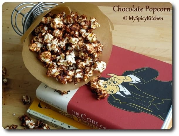 Chocolate popcorn, chocolate mela