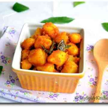 Potato Raost, Simple Potato Raost, Aloo Roast, Alu Roast, Indian Potato Curry, Potato Fry, Alugadda Kura