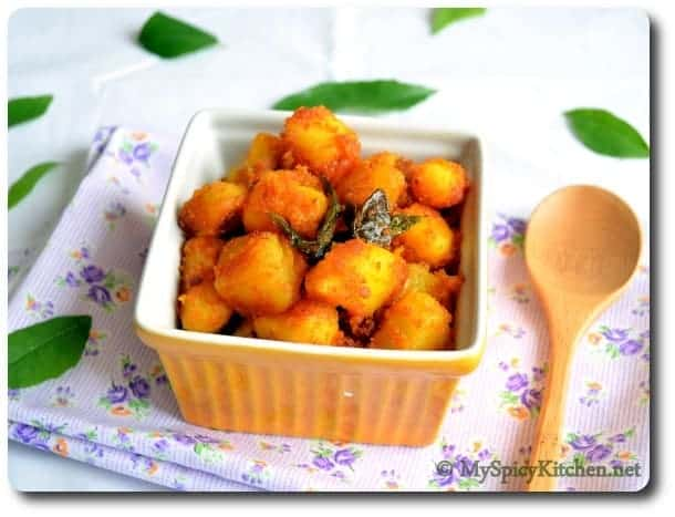 Potato Raost, Simple Potato Raost, Aloo Roast, Alu Roast, Indian Potato Curry, Potato Fry, Alugadda Kura, Virtual Bridal Shower