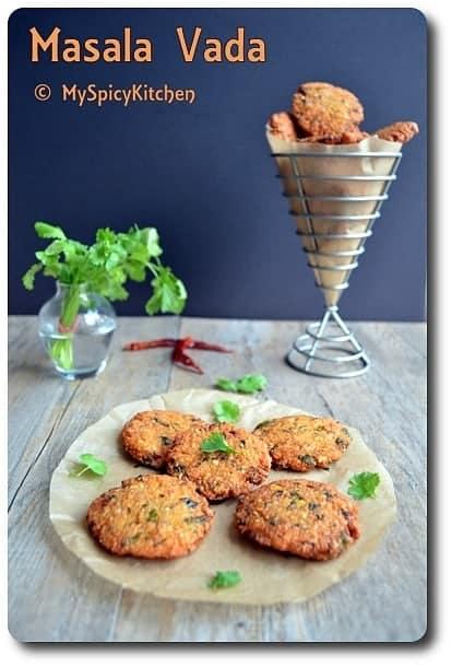 Lentils Vada, Lentil fritters, Dakshin Cookbook,
