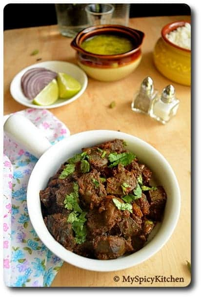 Mutton Liver Curry, Side Dish Mela