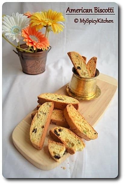 Pistachio Raisins Biscotti, Home Bakers challenge, Italian Cookies