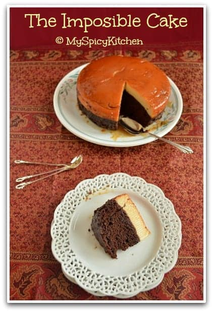 Blogging Marathon, Pressure Cooker Recipe, Mexican Flan, Impossible Cake,