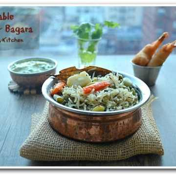 Vegetable Rice, Pilaf, Vegetable Pulav, Blogging Marathon, Pressure Cooker Recipe