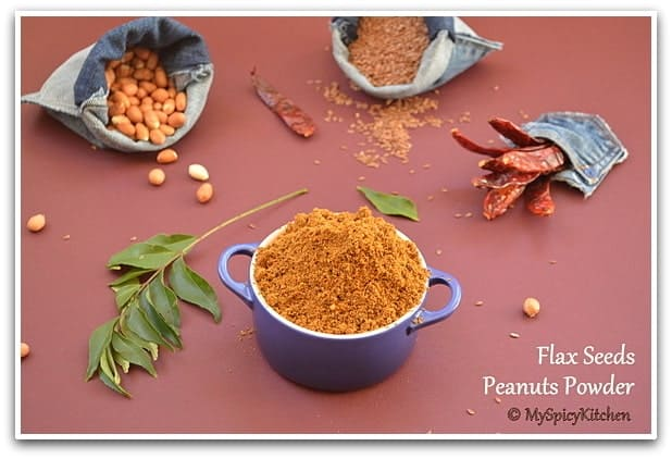 Flax Seeds Groundnut Powder, Flax Seeds Palli Podi, Flax Seeds Palli Karivepaku Podi, Flax Seeds Curry Leaves Peanut Powder, Flax Seeds Curry Leaves Groundnut Powder, Blogging Marathon,