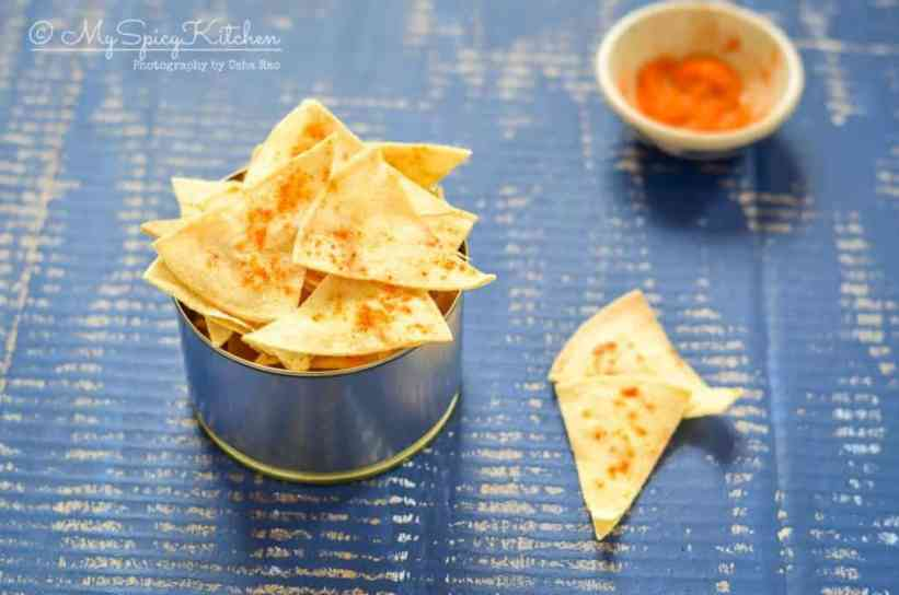 Semi homemade corn tortilla chips