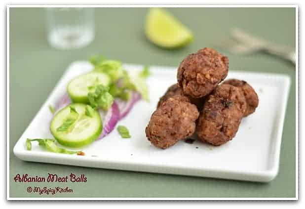 Qofte Fërguara ~ Meat Balls from Albania