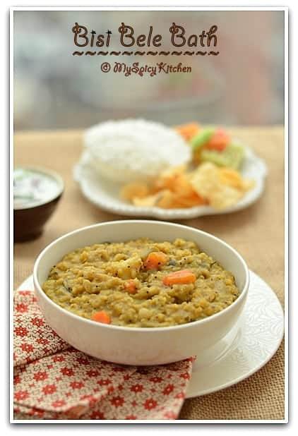 Sambar Rice, Karnataka Cuisine, Blogging Marathon