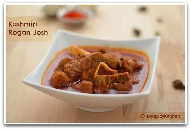 Kashmiri Cuisine, Kashmiri Hindu Cuisine, Kashmiri Pandit Food, Kashmiri Goat Curry, Kashmiri Mutton Curry, Kashmiri Mutton Rogan Josh
