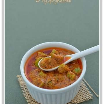 Dondakaya ava pachadi, ivy gourd pickle, South Indian Cuisine,