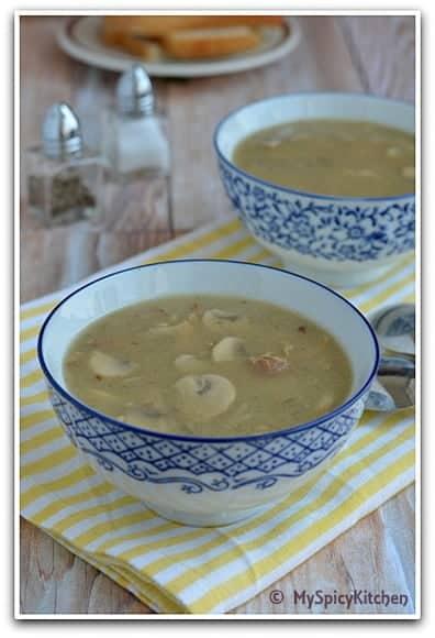 Houbova Polevka myslivecka, Czech Food, Czech Cuisine, Blogging Marathon, Around the world in 30 days with ABC cooking