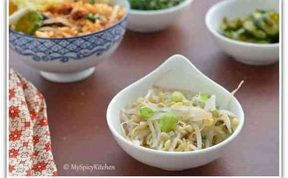 Blogging Marathon, Around the world in 30 days with ABC cooking, Bean sprouts salad,
