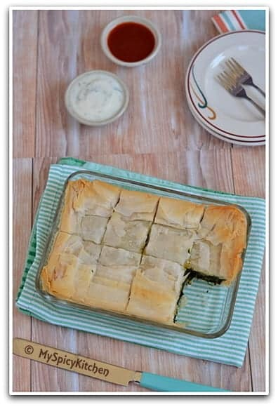 Spinach pastry, Greek SPinach Pastry, Spinach Pie, Greek Food, Blogging Marathon, Around World in 30 day with ABC Cooking