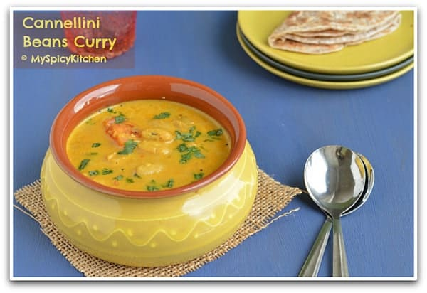 Cooking from Cookbook Challenge, CCChallenge, Beans Curry, Coconut Milk Curry