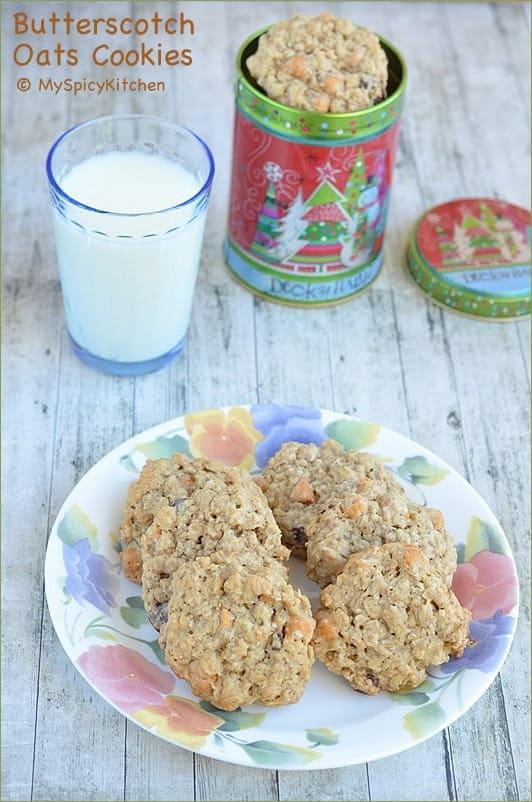 Home Bakers Challenge, Oats Cookies, Cookies, Butterscotch Cookies,