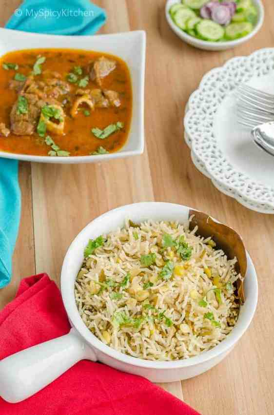 Hyacinth Beans Rice, Telangana Food, Telangana Cuisine, Telugu Food, Indian Food, South Indian Food, Blogging Marathon, Journey Through the Cuisines, A-Z Challenge, A-Z Telangana Cuisine, Hyacinth Beans Rice, Anapakaya Annam, Anapa ginjala annam, surti papdi lilva rice, anapa ginjala pulao, anapakaya pulao, avarekulu rice, avarekalu annam,