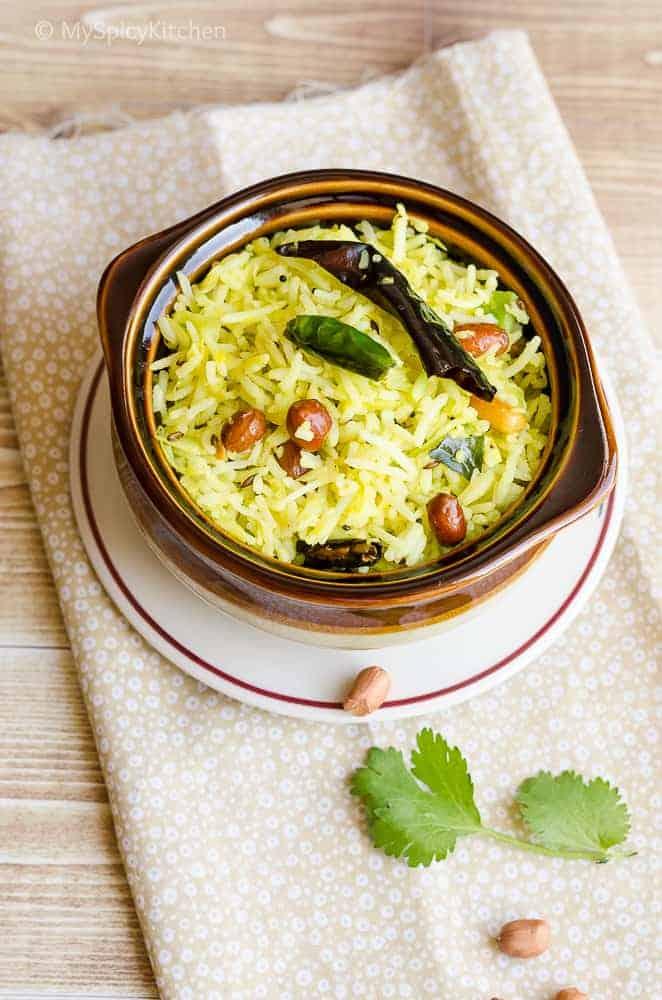 Mamidikaya Pulihora ~ Raw Mango Rice