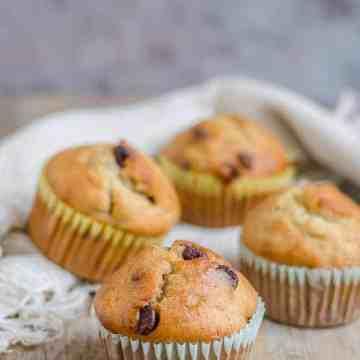 Banana Chocolate Chip Muffins, Bakeathon, Ripe Banana Bakes,