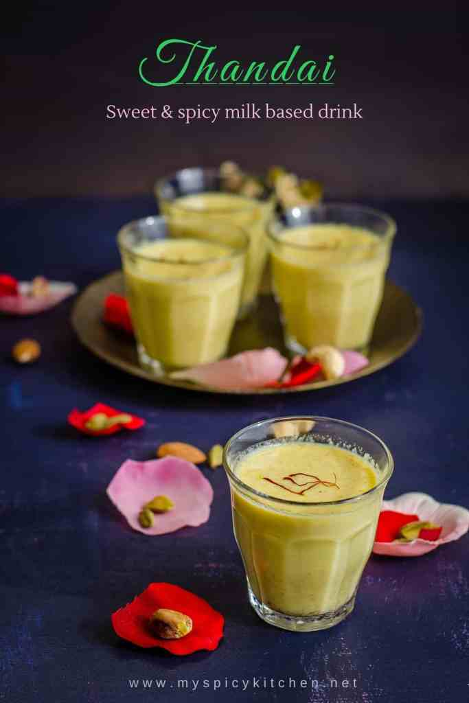 Glasses of Thandai for Holi
