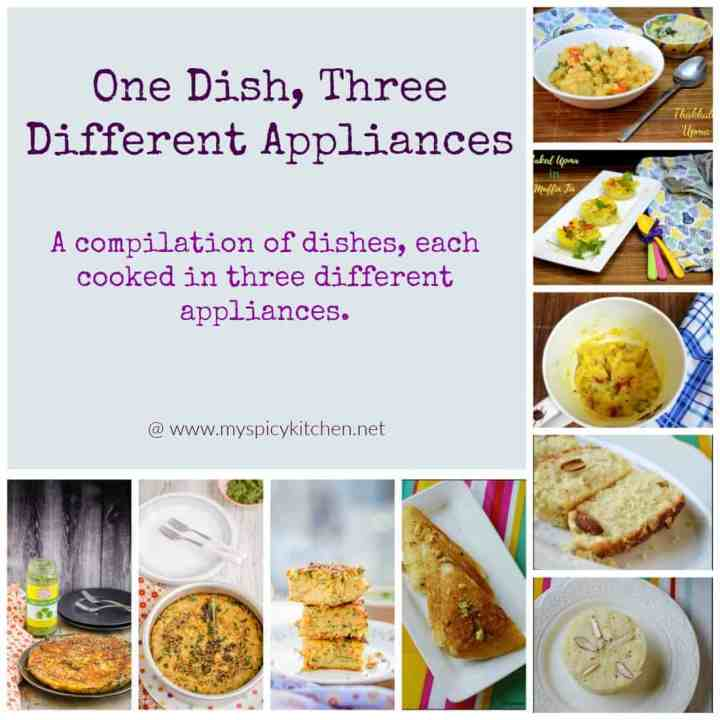 One Dish Three Different Appliances
