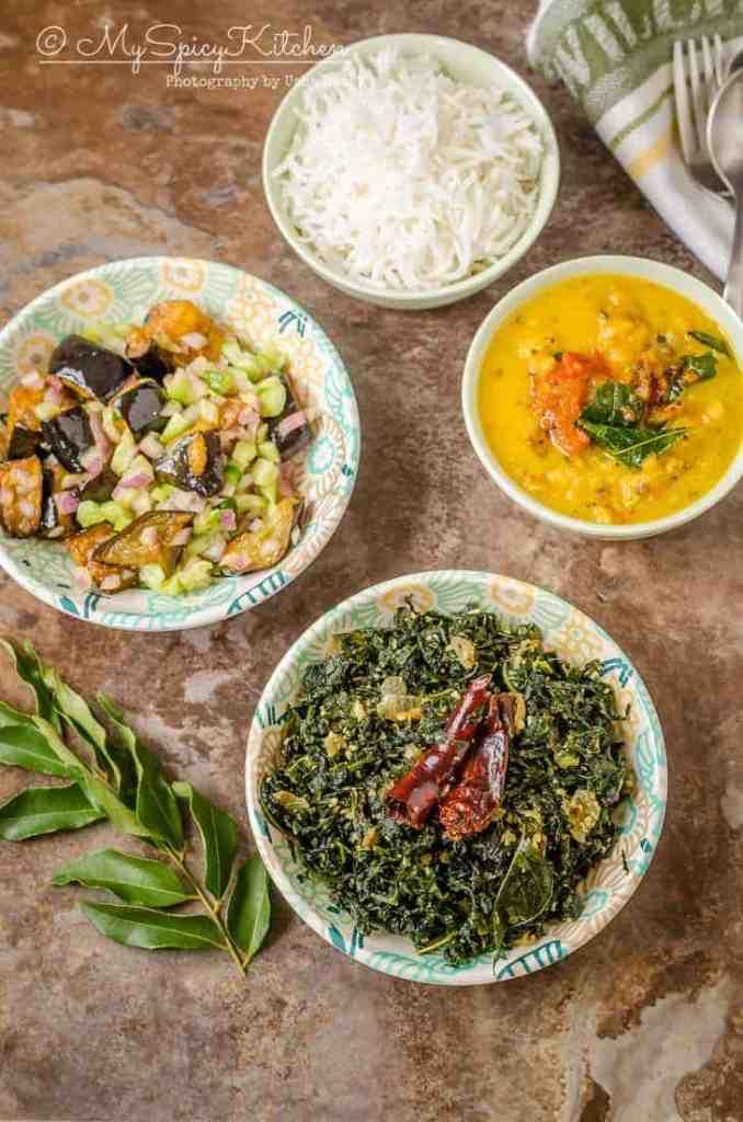 Sri Lankan kale mallung, kale mallum, kale mellun