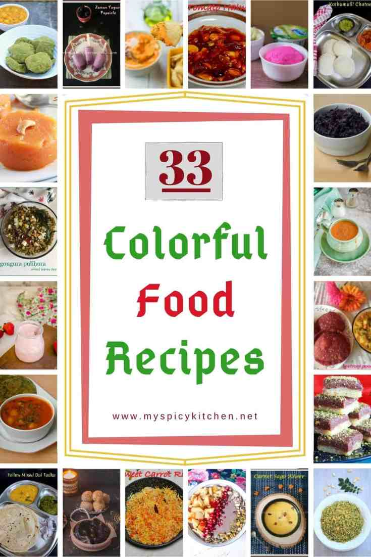 33 Colorful Food Roundup