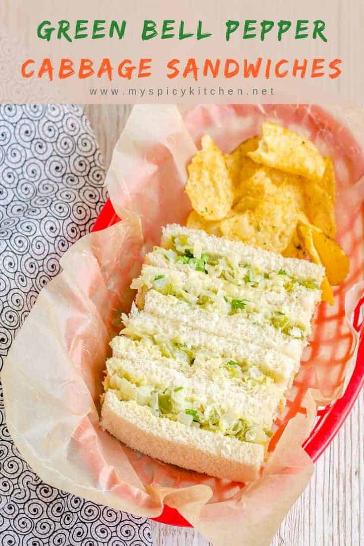Cabbage Bell Pepper Sandwiches, Video Recipe