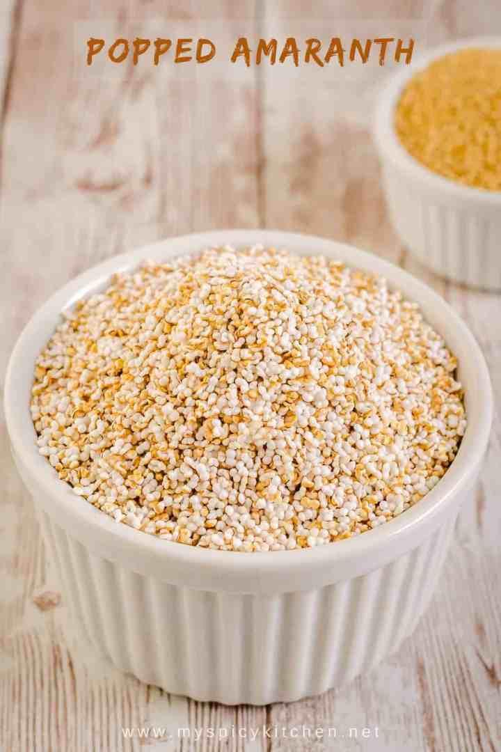 Bowl of popped amaranth