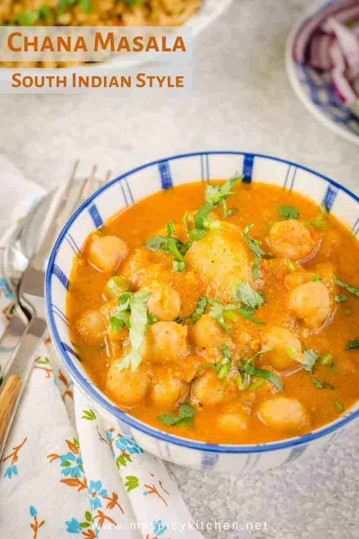 A bowl of chana masala