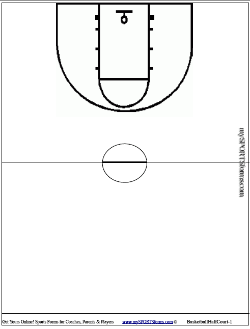 basketball court diagram for coaches of camshaft position sensor youth coaching mysportsforms com picture