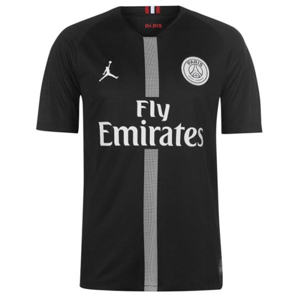 2b9182ccd PSG FC 2018 19 Jordan Black Third Jersey front