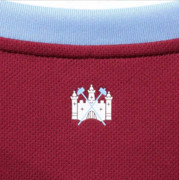 West Ham United 2019/20 Home Jersey Neck