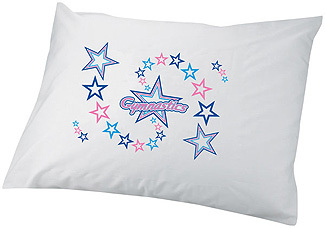 pillow case with gymnastics
