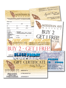 Design and Layout for Meridian Ave. Massage