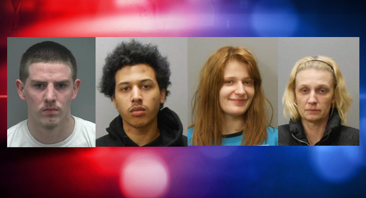 Four arrested in police raid of alleged Janeville drug house