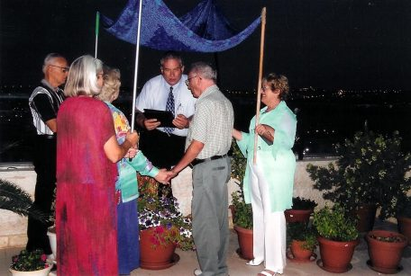 In 2004 Rev. Bill performed a wedding for two special friends in Jerusalem.