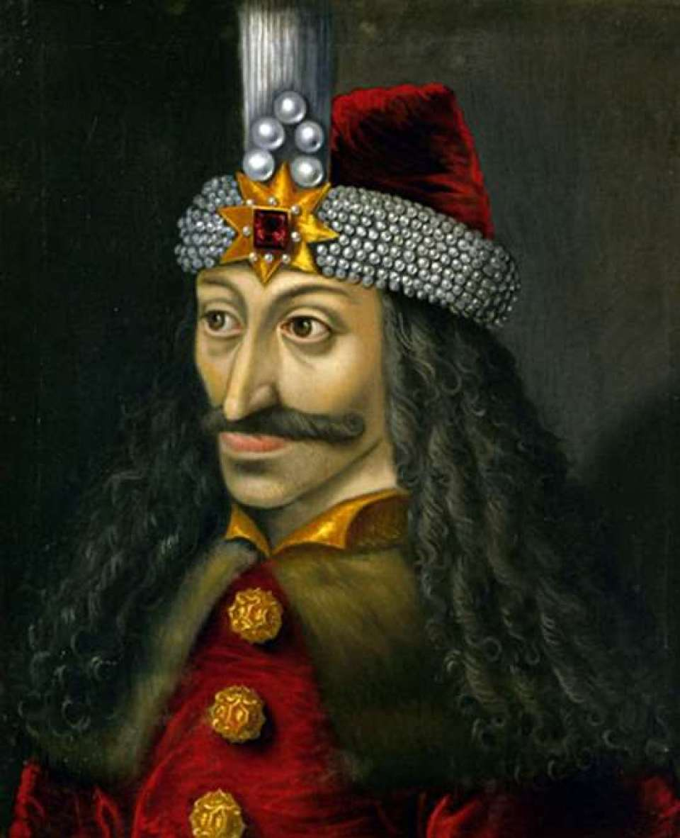 Anonymous 16th-century painting of Vlad Tepes, or Vlad the Impaler, Prince of Walachia 1456–62