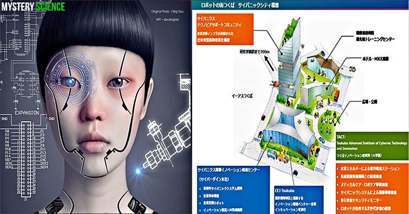 ciudad de japon robots
