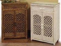 Wicker Storage Shelves | Wicker Corner Cabinet | Tall Shelf