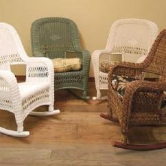 Wicker Porch Chair Cushions Folding For Bathroom Rocker | Outdoor Rocking