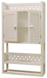 Wicker Bathroom Wall Shelf | Wicker Wall Cabinet